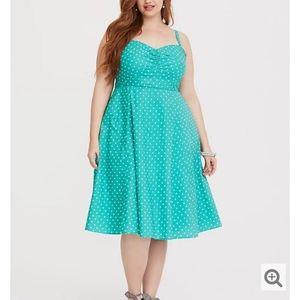 NWT Torrid Retro Chic Mint Skater Dress